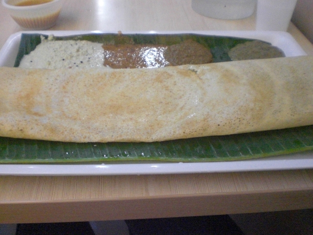 Dosa (this one is soft, but you can order crisp or soft)