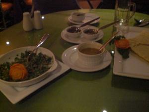 Tabouleh and masala dosa