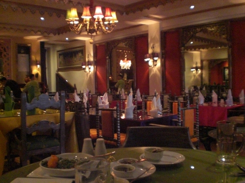 Kashmir Indian restaurant in Makati City--inside