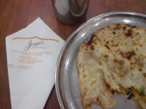 Jaggi's Onion kulcha close-up